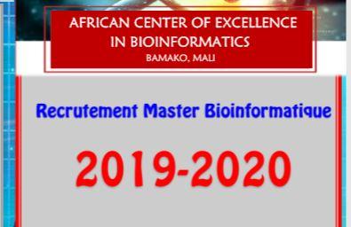 Recrutement Master Bioinformatique 2019-2020: Dépôt des candidatures en cours