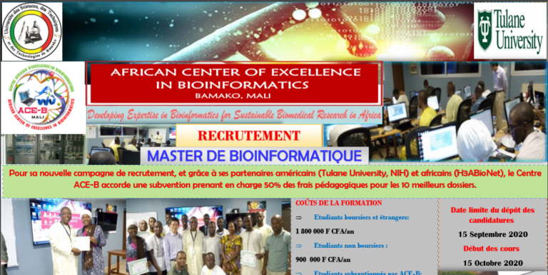 Recrutment: Master in Bioinformatics